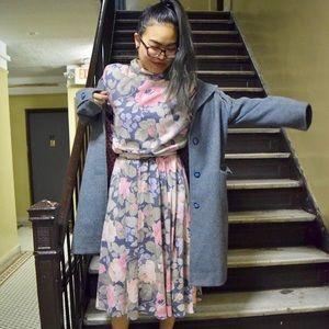 Vintage floral dress with matching belt